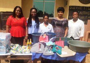 A donation to Owerre Ezukala Health Community Centre in Orumba South LGA, Anambra State